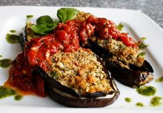 Individual Eggplant Parmesan. Great blog with italian recipes from a true italian!!