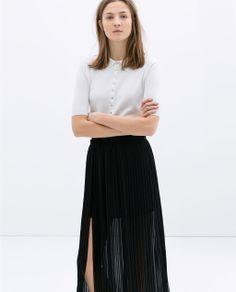 Image 1 de JUPE LONGUE PLISSÉE de Zara