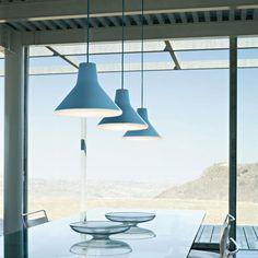 10 shades of blue | Archetype lamp, Goodmorning Technology, Luceplan, 2011