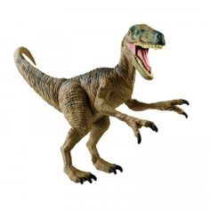 An action figure of the popular Raptors from Jurassic World.