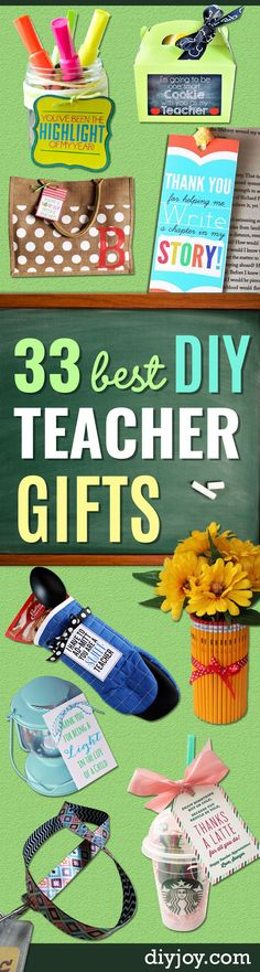 DIY Teacher Gifts - Cheap and Easy Presents and DIY Gift Ideas for Teachers at Christmas, End of Year, First Day and Birthday - Teacher Appreciation Gifts and Crafts - Cute Mason Jar Ideas and Thoughtful, Unique Gifts from Kids http://diyjoy.com/diy-teacher-gifts