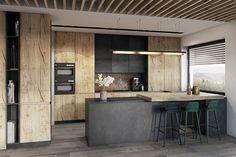 Bielsko-Biała, dom - 230m2 : Modernistyczna kuchnia od razoo-architekci