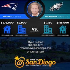 Whose planning on watching the big game and who couldn't care less? As your local real estate expert and to uphold the stereotype of my profession, I feel it's my duty to post something that relates to the Super Bowl and somehow tie it back into real estate.  So... this is my best attempt. In all seriousness, if you are considering purchasing or selling this year in the San Diego area or know someone who is, give me a call. I'm pretty damn good at my job and have helped many locals stay…