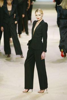 Yves Saint Laurent tuxedo Fashion Show Details & more