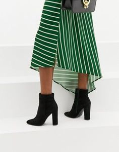 980d28aab979 Lipsy block heel ankle boot in black