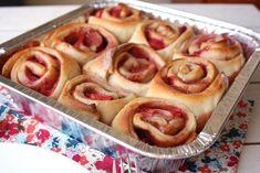 Strawberry Cinnamon Rolls @SheMakesandBakes