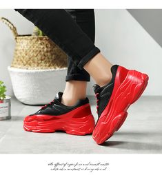 Fashion Sneakers Women Red Shoes 2020 Spring Autumn Womens Fashion Sneakers, Sneakers Women, Bow Sneakers, Puma Platform, Platform Sneakers, Go Red, Fenty Puma, Red Shoes, Autumn