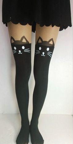 Cat tattoo leggings