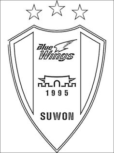 korea coloring page coloring page with logo of suwon samsung bluewings only for those