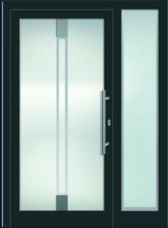Sternstunden Eingangstüre RANA 1 - Aluminiumtüre mit Seitenteil außen in grau. Besuchen Sie unseren Schauraum in Gramastetten - dort haben wir einige unserer Haustürmodelle ausgestellt. #Fensterschmidinger #doors #türen #alu #gramastetten #oberösterreich