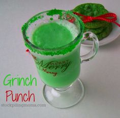 Grinch Punch. This would be fun to make with the kids!