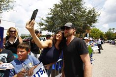 Alli Innes takes a photo with Steven Stamkos. [LUIS SANTANA  |   Times]