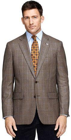 Madison Fit Saxxon® Wool Tonal Check with Black Deco Sport Coat