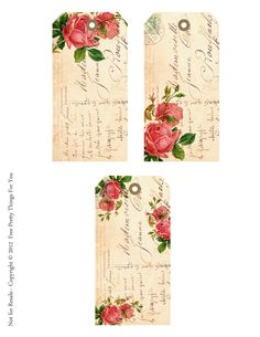 All sizes | Shabby French Rose Freebie Tags for Shabby Blogs By FPTFY | Flickr - Photo Sharing!