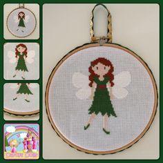 Woodland Fairy cross stitch, by Darcys Dolls
