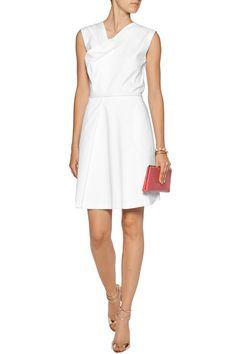 RaoulDrew draped cotton-blend dress