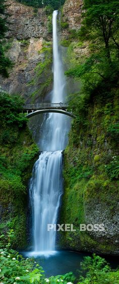 America's tallest waterfall behind the iconic bridge. Ultra High Resolution stock photography from Pixel Boss. Beautiful Places To Travel, Beautiful Sites, Cool Places To Visit, Beautiful World, Beautiful Waterfalls, Beautiful Landscapes, Landscape Photography, Nature Photography, Nature Pictures
