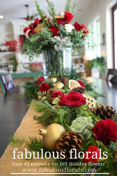 2017 Holiday flower trends! www.fabulousflorals.com The #1 source for wholesale flowers! #holidayflowers #diyflowers #diychristmas #christmasdecor
