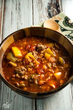 Slow Cooker Beef And Pepper Soup