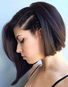 Braided short hair http://coffeespoonslytherin.tumblr.com/post/157380759502/stunning-short-layered-bob-hairstyles-short