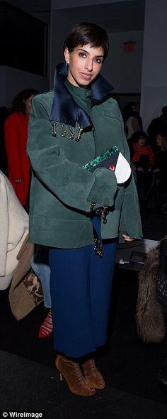 Princess Deena Aljuhani Abdulaziz attends the Altuzarra fashion show in New York...