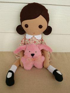 Custom Listing for Nickoletta Fabric Doll Rag Doll por rovingovine