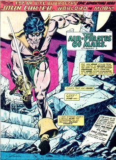 John Carter - Warlord of Mars / pencils by Gil Kane, inks by Dave Cockrum and colour by Glynis Wein.