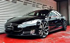 Office K Tesla Model S 0 600x374 at Office K Tesla Model S Gets Forgiato Wheels