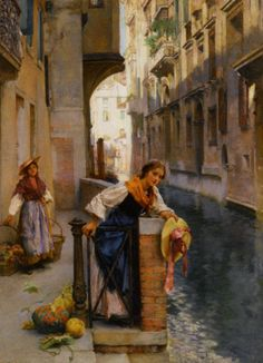Henry Woods--Fruit Sellers from the Islands, Venice
