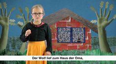 Rotkäppchen in deutscher Gebärdensprache