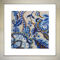 The Art Effects Indigo Tapestry II Printed Wall Art exudes colorful charm with a sweet floral print in rich colors of blue, brown, and touches. Floral Prints, Art Prints, Indigo, Blue And White, Tapestry, Wall Art, Wallpaper, Artwork, Clocks