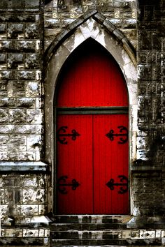 Gothic Red Door Memphis ChurchBrilliant red door with Gothic style hinges adorn a masonary wall that gains entrance into a local Memphis Church. Beautiful journal in spiral notebook form. Great for student gifts, or spiritual event diary. Southern Architecture, Church Architecture, Interior Architecture, Architectural Prints, Wall Paper Phone, Building Art, Crow Art, Wall Art For Sale, Cool Walls