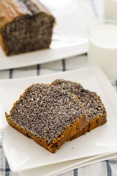 Poppy Seed Loaf/Cake - So delicious. Slovak Recipes, Czech Recipes, German Recipes, Sweets Recipes, Baking Recipes, Snack Recipes, Eastern European Recipes, Something Sweet, Sweet Bread