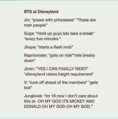 Bts in Disneyland