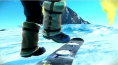 Present - Inspired - As you can see in this picture, in the new SSX game the boards use bindings similar to step in bindings. (Transworld, 2011)