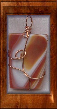 Agate Copper Wire Wrapped Pendant More Mais Copper Wire Art, Copper Wire Jewelry, Wire Jewelry Making, Agate Jewelry, Rock Jewelry, Copper Wire Crafts, Stone Jewelry, Pendant Jewelry, Jewellery