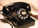 Rotary dial phones with party lines