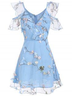 Handmade Marla Mini Dress in blue plaid cotton