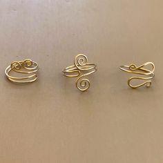 Wire Jewelry Designs, Handmade Wire Jewelry, Wire Wrapped Jewelry, Beaded Jewelry, Jewelry Bracelets, Beaded Earrings, Wire Jewelry Making, Wire Jewellery, Diy Handmade Rings