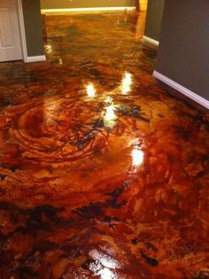 acid stain concrete I just love this..My daddy can do this for me in my new house!: