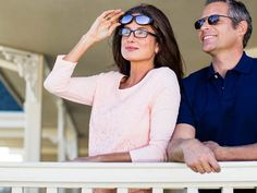 Great gift for Mom on Mother's Day! Under $25. Polarized Solar Shield fitsover sunglasses. The best sunglasses for eyeglass wearers.
