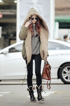 Love this comfy cozy winter coat! Korean fashion style ♥ GG's tiny times ♥