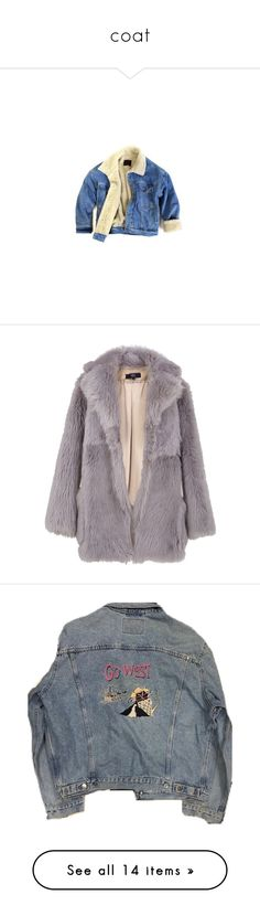 """""""coat"""" by saffy-wilkinson on Polyvore featuring outerwear, jackets, tops, coats & jackets, women, blue jean jacket, fake fur jacket, blue jackets, blue faux fur jacket and denim jacket"""