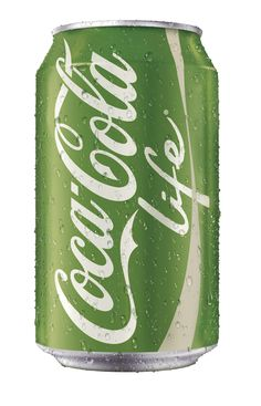 """Coca-Cola's new """"Life"""" packaging.  Similar to fried green tomatoes."""