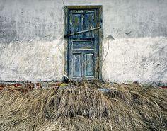 Old door in Belarus.