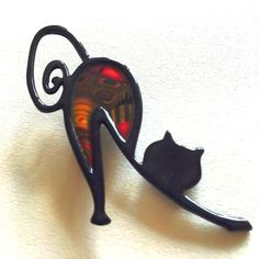 Broche chat dos rond Liz créations