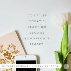 """Wisdom makes decisions today that will still be good for tomorrow. Don't let today's reaction become tomorrow's regret."" - Lysa TerKeurst, #UninvitedBook   How can you apply wisdom to a choice you are facing today?"