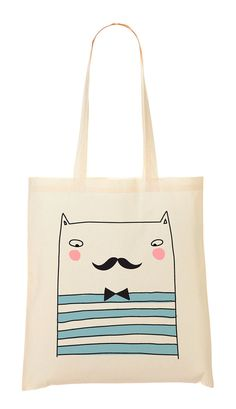 #Tote #Bag French #cat | Sobigraphie via Etsy
