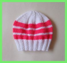 Modern mums l ike bright bold colours for their newborns, so I made these cute little newborn baby hats with bright bold stripes. They ar...