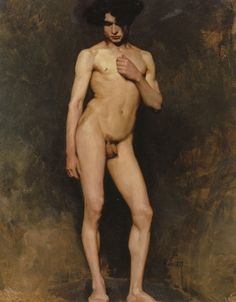 Albert Edelfelt (Swedish-speaking Finnish, 1854-1905), Nude Study, 1875